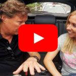 On the way im Promitipp Drive mit Goldschatz und Moderatorin Sara Bachmann
